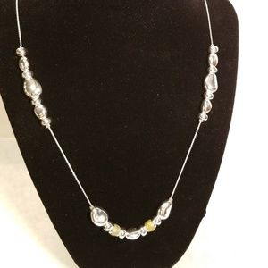 """Talbots Silver Tone Bead 45"""" Necklace"""